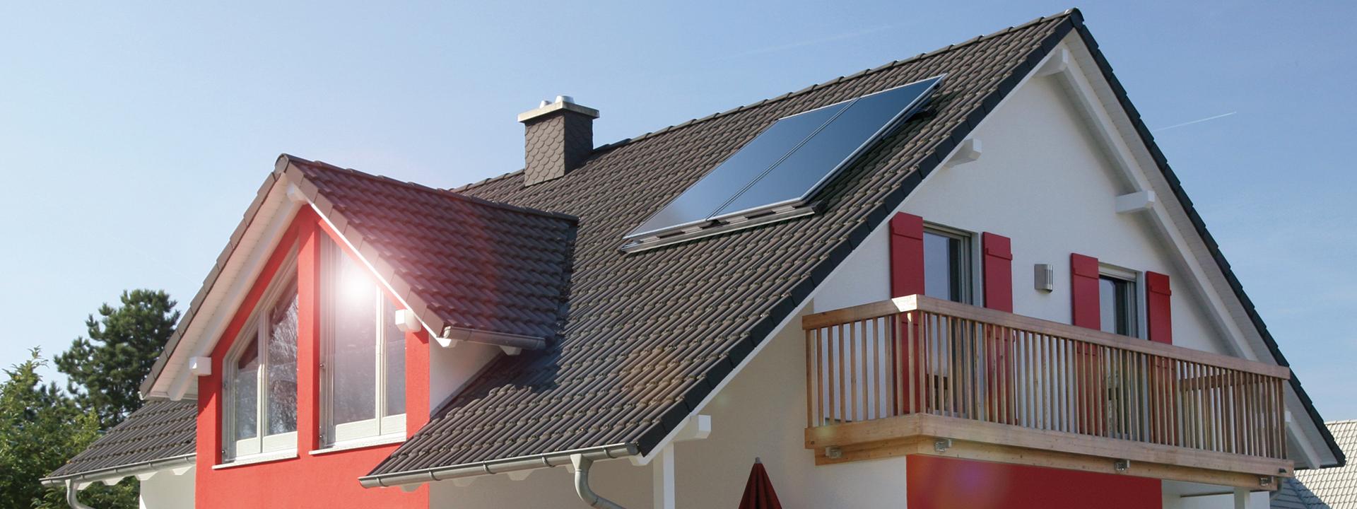 Hausdach mit Solar
